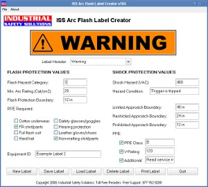 safetypro arc flash labeling software